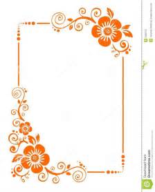 Orange frame from decorative flowers on a white background