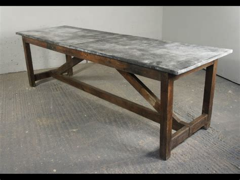 Top Dining Table Vintage Zinc Top Dining Table Rs Floral Design Best Zinc Top Dining Table