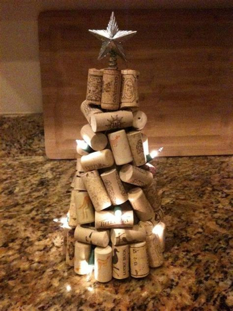 cork christmas tree decorative wine stopper cork crafts upcycle