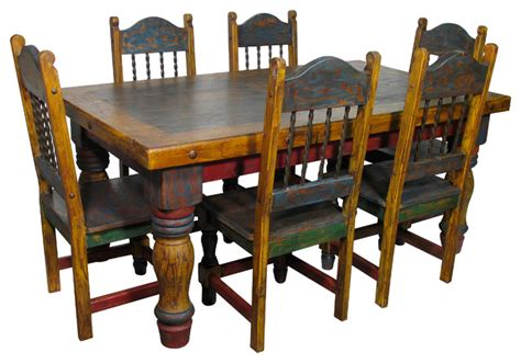 Mexican Dining Room Furniture Mexican Country Style Painted Wood Dining Set Dining Sets Other Metro By Direct From