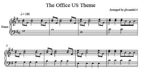 The Office Song by The Office Us Theme Sheet Glissando14 S Homepage