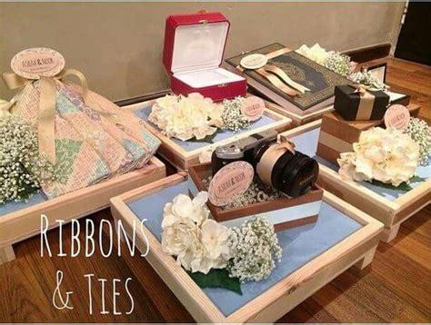 Kotak Cincin Wooden Ringbear Tray ribbon simple hantaran wedding inspiration