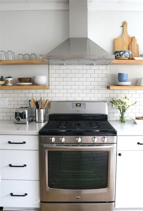 Subway Tile Kitchen Backsplashes nona s kitchen full reveal amber interiors