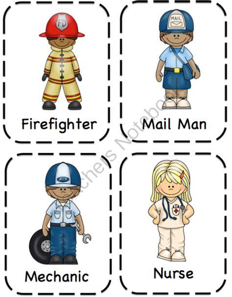 printable images community helpers december 2013 preschool printables