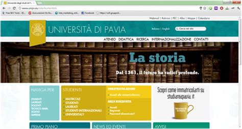 www unipv eu web restyling da 30 e lode inchiostro