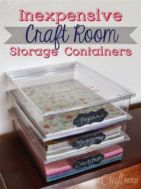 craft room paper storage inexpensive craft room storage containers that you