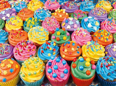 colorful cupcakes colorful cupcakes jigsaw puzzle puzzlewarehouse