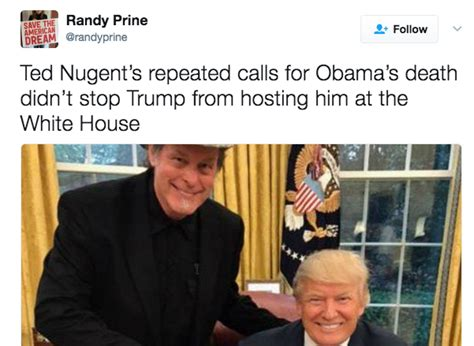 Ted Nugent Memes - kid rock ted nugent sarah palin white house photo know your meme