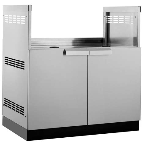 stainless steel cabinets outdoor kitchen cabinet home newage products stainless steel classic 33 in insert bbq