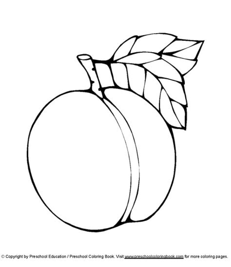 printable peaches coloring book pages coloring pages