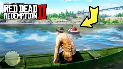 canoes red dead 2 red dead redemption 2 funny moments spoiler free youtube