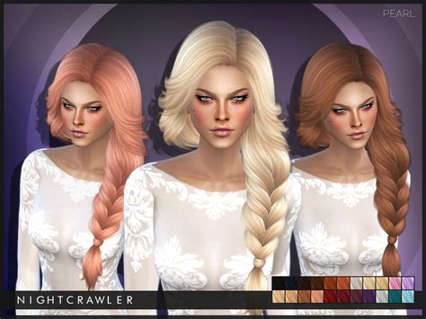 sims 3 hair braid tsr the sims resource over nightcrawler sims nightcrawler pearl