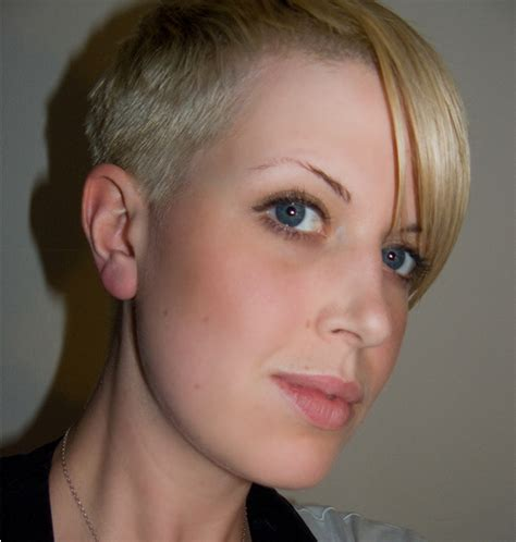 extra short haircut very short boyish women haircut with very cool style png