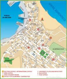 Ancona Italy Map by Map Of Ancona City Centre