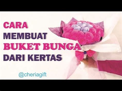 Tutorial Buket Bunga Kertas | tutorial cara membuat buket bunga dari kertas how to