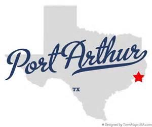 Where Is Tx Map Of Port Arthur Tx