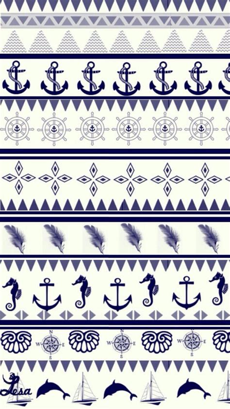 anchor pattern tumblr cute anchor pattern wallpaper girly wallpapers