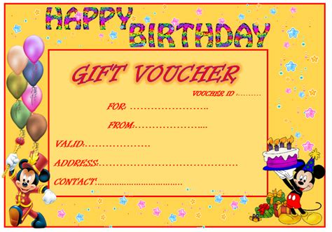 birthday coupon template www imgkid com the image kid