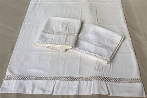 vintage bed sheets antique vintage white cotton sheets pillowcases w