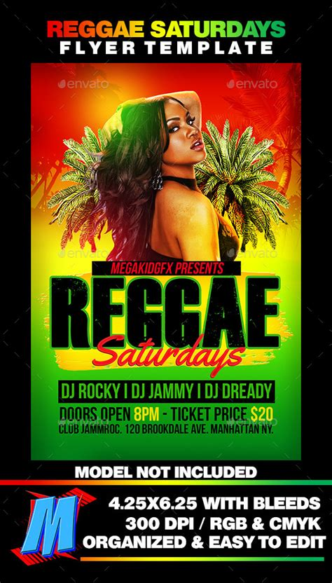flyer design jamaica reggae saturdays flyer template by megakidgfx graphicriver
