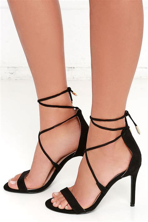 black lace up high heels black heels lace up heels caged heels 36 00