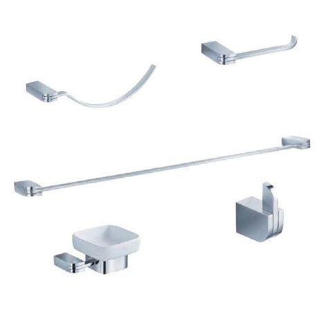 Home Depot Bathroom Accessories Arista Highlander Collection 4 Bathroom Accessory Set In Chrome 3501 4set Ch The Home Depot