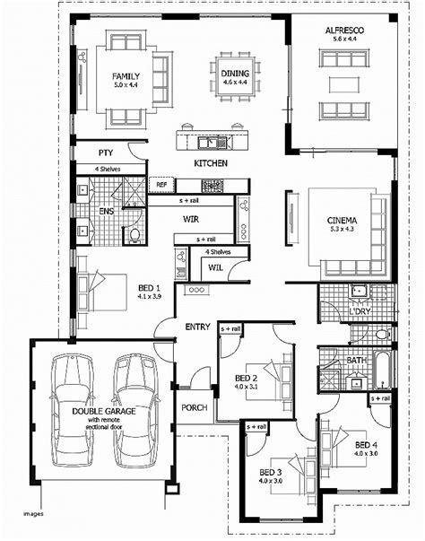 single story house plans with 5 bedrooms house plan elegant single story house plans with 5