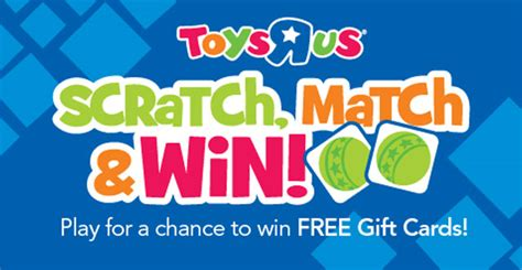 Win Gift Card - toys r us scratch match and win game win toys r us gift cards