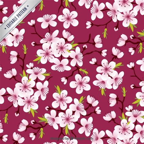 cherry pattern vector art cherry blossoms pattern vector free download