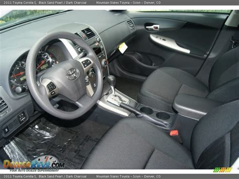 charcoal interior 2011 toyota corolla s photo 4