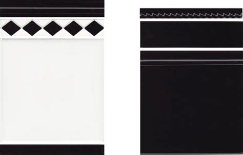 black and white border tiles for bathroom art deco borders 4 renditions tiles