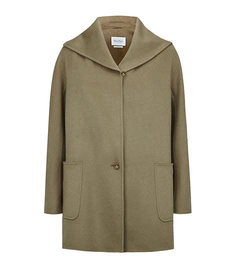 max mara swing coat max mara shawl collar swing coat in green lyst