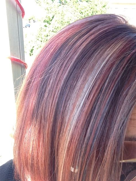 how to put red hair in on the dide with 27 pieceyoutube my hair after 2nd step process of blonde highlights with