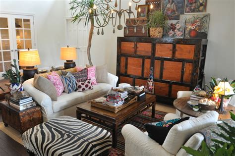 Living Room Furniture Eclectic Boho Chic