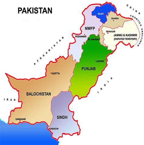 map of pakistan maps map pakistan
