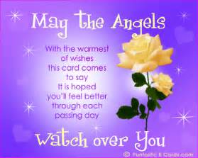 May the angels with the warmest of wishes this card comes to say it is