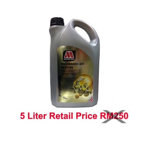 Olie Matic Atf Mitsubishi Sp Iii millers transmission oils millermatic atf sp iii ws 5l zhapalang e autoparts