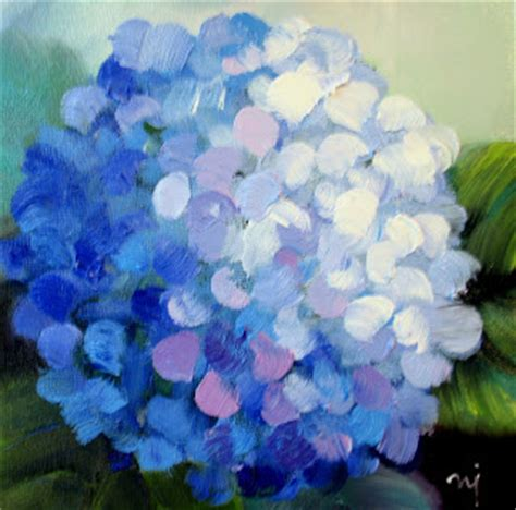 nel s everyday painting triple hydrangeas and a lesson sold nel s everyday painting 7 31 11 8 7 11