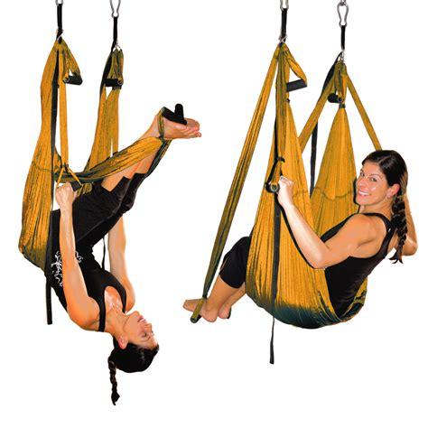 swing back golden orange aerial yoga inversion swing yoga for back