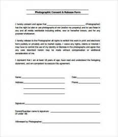 Photographic Release Form Template by Release Form Template 10 Free Pdf Documents
