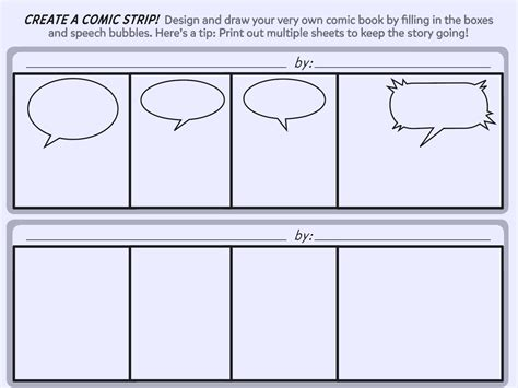 comic book script template create a comic printable template worksheets