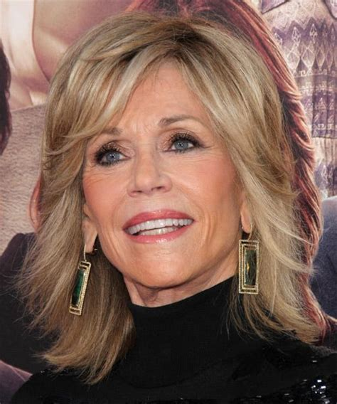 directions for jane fondas haircut jane fonda hairstyle medium straight formal medium
