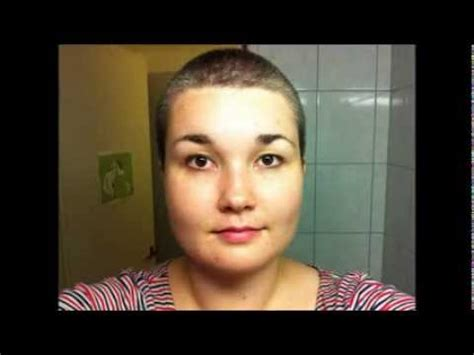female headshave this month 6 months of hair growth after shaving youtube