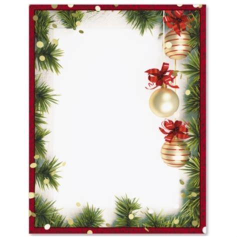 christmas twilight letterhead border papers paperdirect