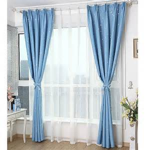 Luxury Blackout Curtains Luxury Baby Blue Blackout Print Pattern Insulated Curtain