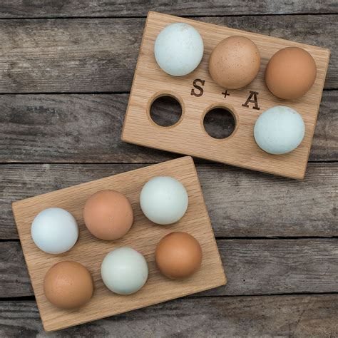 Egg Rack by Personalised Oak Egg Rack Gettingpersonal Co Uk