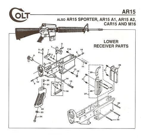 ar 15 parts diagram lower receiver 4 best images of ar 15 lower parts kit diagram ar 15