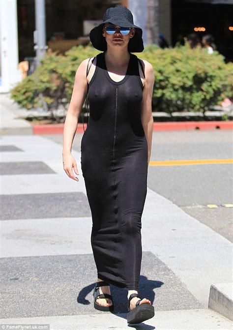 Mcgowan Almost Puts An Eye Out by Mcgowan Wears Semi Sheer Dress As She Runs Errands In