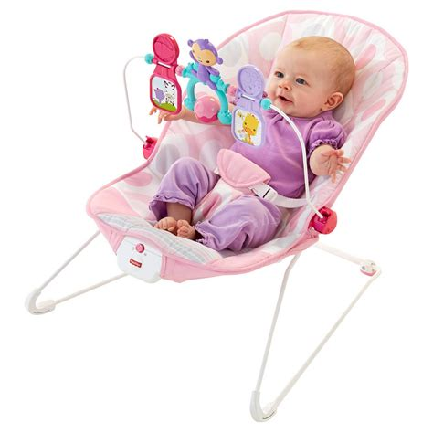 vibrating bouncy seat safety fisher price 174 bouncer pink ellipse ebay