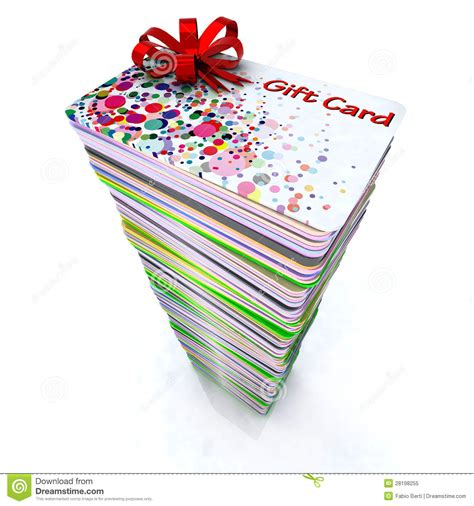 Stack Of Gift Cards - stack of colored gift cards royalty free stock photo image 28198255